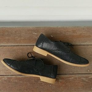 Toms Shoes - TOMS Leather Brogue Oxford Black